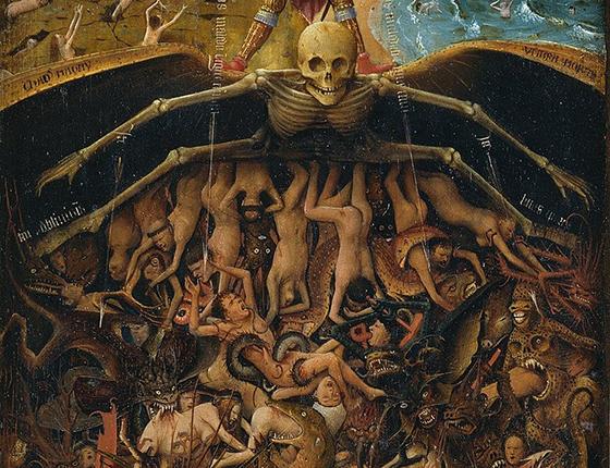 """Jan van Eyck """"Qiyamət günü"""" tablosundan parça"""