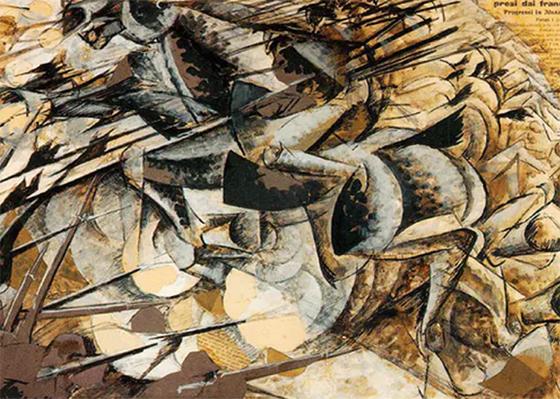 """Umberto Boccioni """"Nizəli süvarilərin hücumu"""""""
